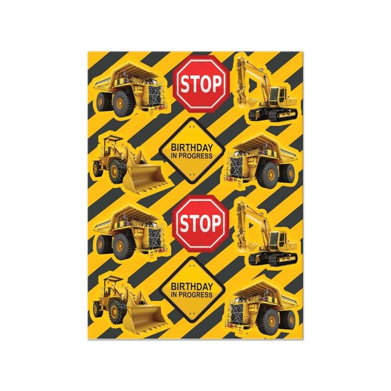 Construction Zone Stickers (Set of 48)