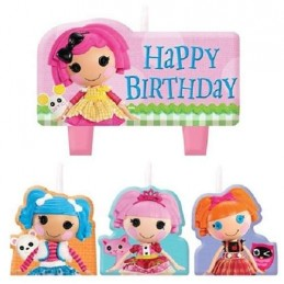 Lalaloopsy Birthday Candles (Set of 4)