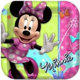 Minnie Mouse Bowtique Large Plates (Pack of 8)