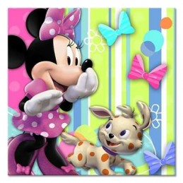 Minnie Mouse Bowtique Small Napkins (Pack of 16)