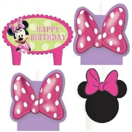 Minnie Mouse Bowtique Birthday Candles (Set of 4)