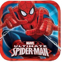 Ultimate Spiderman Large Paper Plates (Pack of 8)
