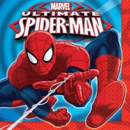 Ultimate Spiderman Large Napkins (Pack of 16)