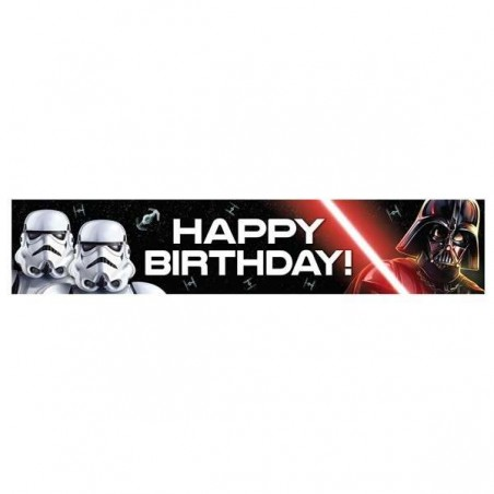 Star Wars Classic Happy Birthday Banner