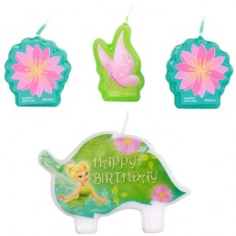 Tinkerbell Birthday Candles (4)