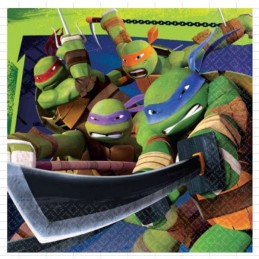 Teenage Mutant Ninja Turtles Large Napkins (Pack of 16)