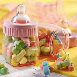 Pink Fillable Mini Baby Bottles (Pack of 6)