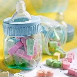 Blue Fillable Mini Baby Bottles (Pack of 6)