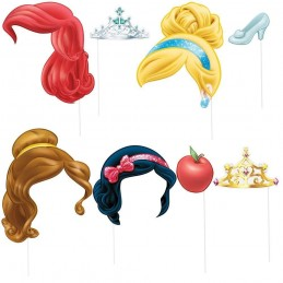 Disney Princess Photo Booth Props (Pack of 8)