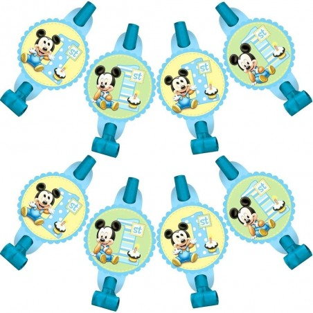 Mickey Mouse 1st Birthday Party Blowers (8)