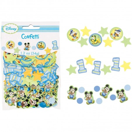 Mickey Mouse 1st Birthday Party Confetti