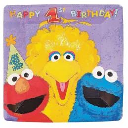Sesame Street 1st Birthday Large Plates (18)