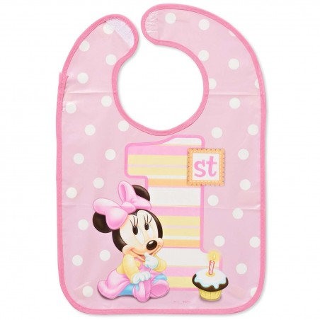 Minnie Mouse 1st Birthday Bib
