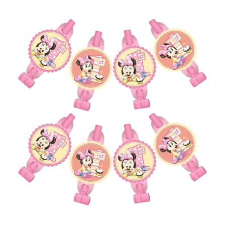 Minnie Mouse 1st Birthday Party Blowers (8)