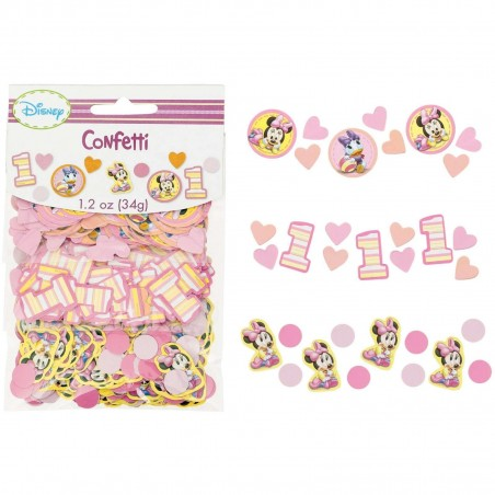 Minnie Mouse 1st Birthday Party Confetti