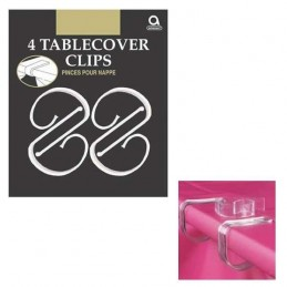 Clear Plastic Table Cover Clips (Pack of 4)