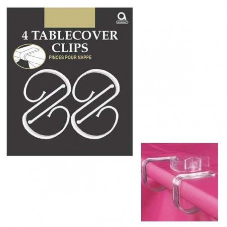 Clear Plastic Tablecover Clips (4)
