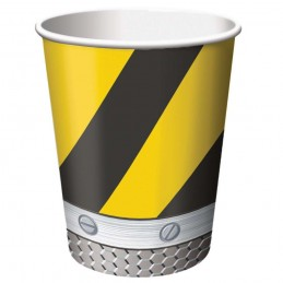 Construction Zone Paper Cups (Pack of 8)