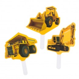 Construction Zone Cupcake Picks (Pack of 12)