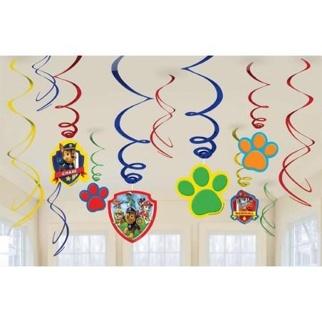 Paw Patrol Swirl Decorations (12)