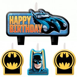 Batman Birthday Party Cake Candle (Set of 4)