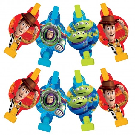 Toy Story Power Up Party Blowers (Pack of 8)