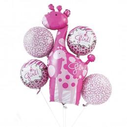 Sweet Safari Girl Balloon Bouquet (Set of 5)