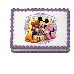 Baby Mickey & Minnie Mouse Cake Image Decoration