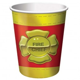 Firefighter Paper Cups (Pack of 8)
