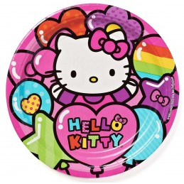 Hello Kitty Rainbow Large Paper Plates (Pack of 8)