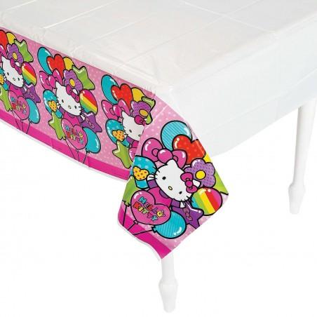 Hello Kitty Rainbow Plastic Tablecloth