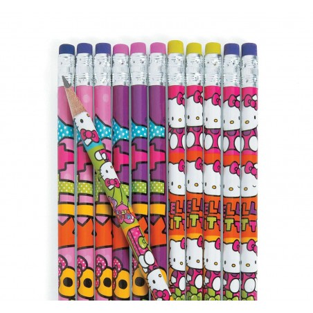 Hello Kitty Rainbow Pencils (Pack of 12)