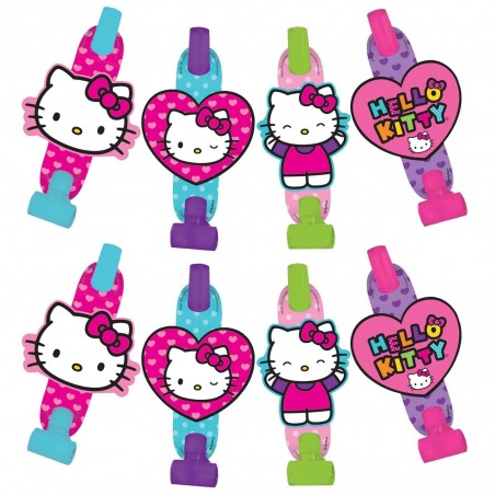 Hello Kitty Rainbow Party Blowers (Pack of 8)