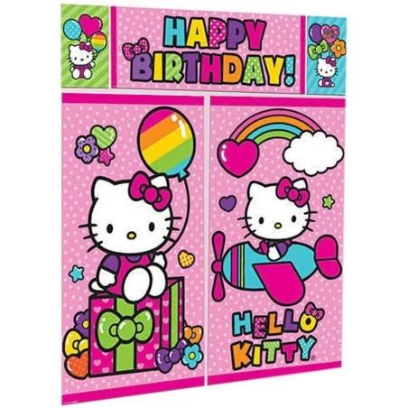 Hello Kitty Rainbow Scene Setter