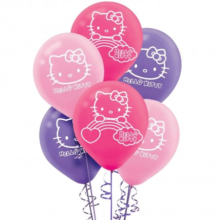 Hello Kitty Rainbow Balloons (Pack of 6)