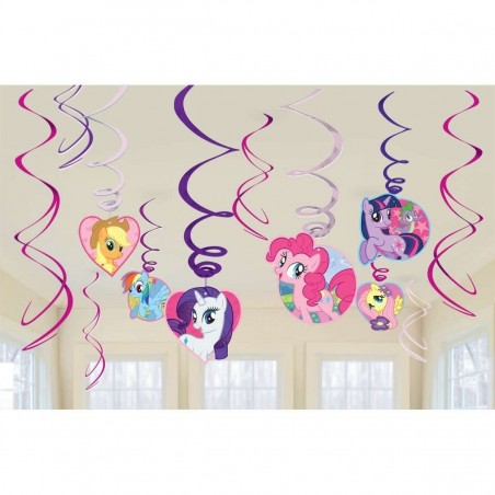 My Little Pony Swirl Decorations (Set of 12)