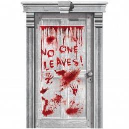 Halloween Asylum Dripping Blood Door Cover