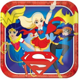 DC Super Hero Girls Large Plates (Pack of 8)