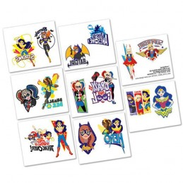 DC Super Hero Girls Tattoos (1 Sheet)