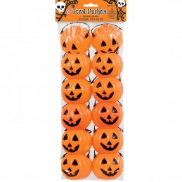 Pumpkin Trick or Treat Mini Buckets (Pack of 12)