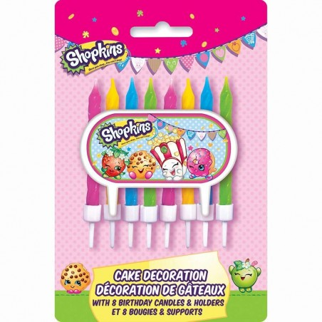 Shopkins Topper & Candles (Set of 9)