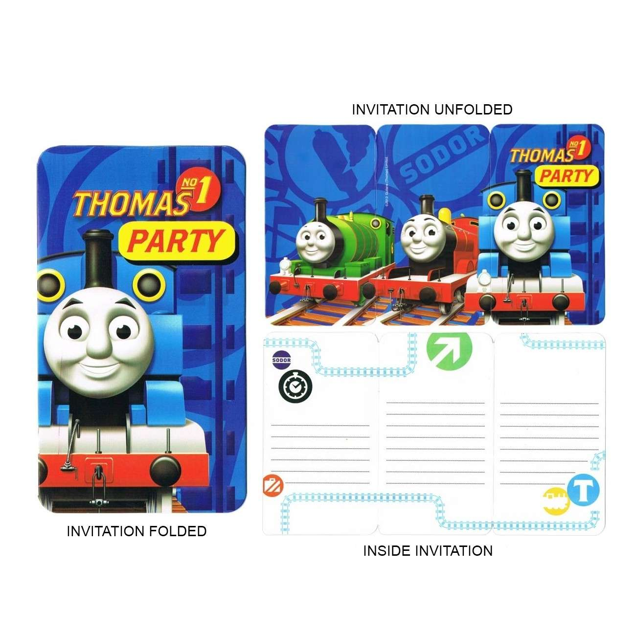 Thomas and Friends Party Invitations (8) - Thomas the Tank Engine ...