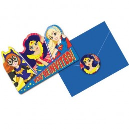 DC Super Hero Girls Party Invitations Set (Pack of 8)