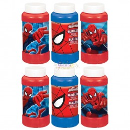 Spiderman Large Bubbles (Pack of 6)