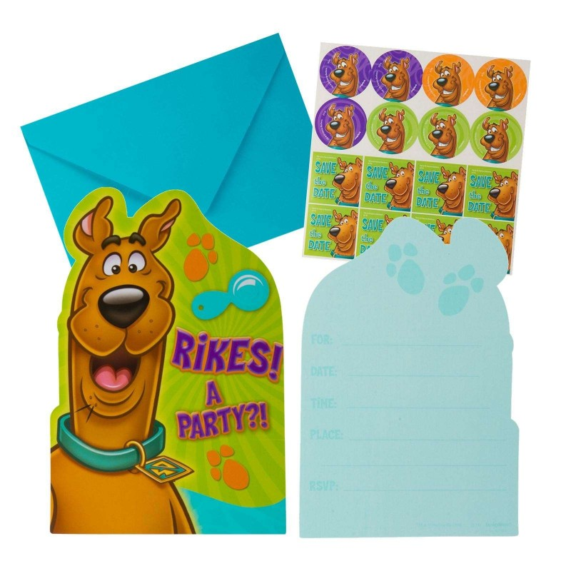 Scooby Doo Birthday Party Invitations Invites Pack of 8 Who Want