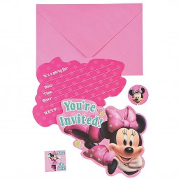 Minnie Mouse Bowtique Party Invitations (8)