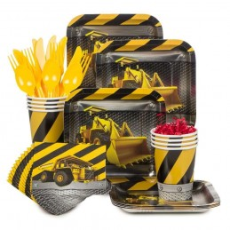 Construction Zone Basic Party Pack (For 8)
