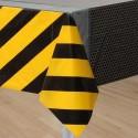 Construction Zone Plastic Tablecloth