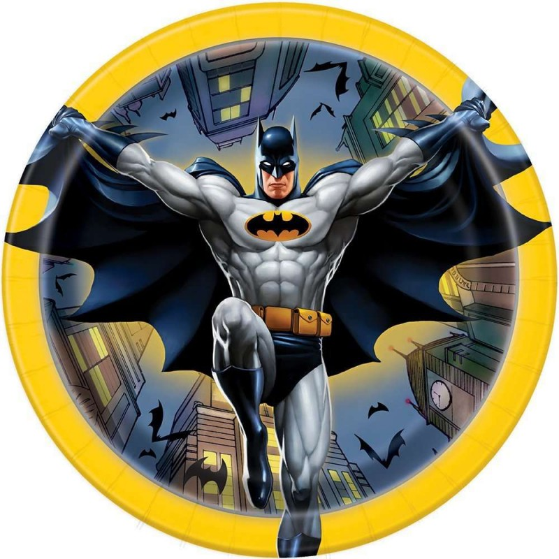 Batman Small Plates (Pack of 8)  sc 1 st  Who Wants 2 Party & Batman Small Paper Plates (Pack of 8) - Who Wants 2 Party