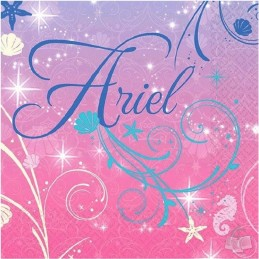 Ariel The Little Mermaid Small Napkins (16)
